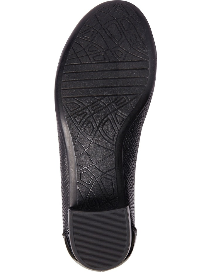 Grace Black Patent/Print Heeled Shoes image 11