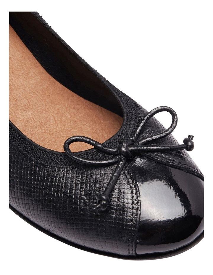 Grace Black Patent/Print Heeled Shoes image 13