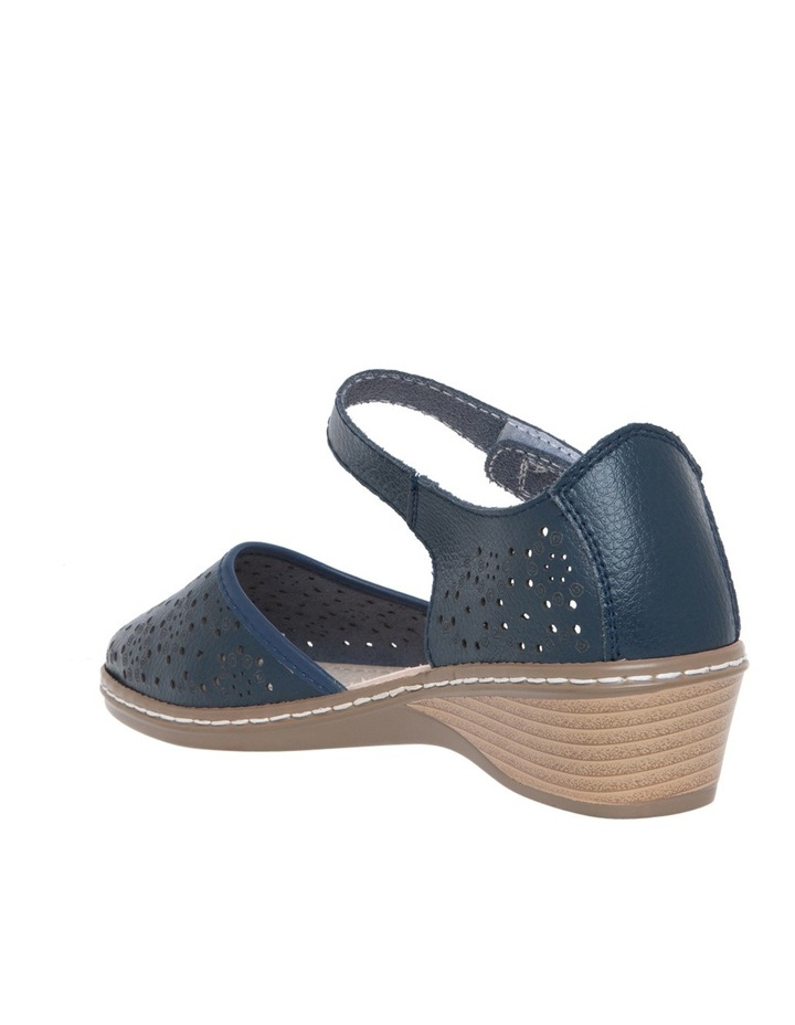 Cemal Navy Flat Shoes image 2