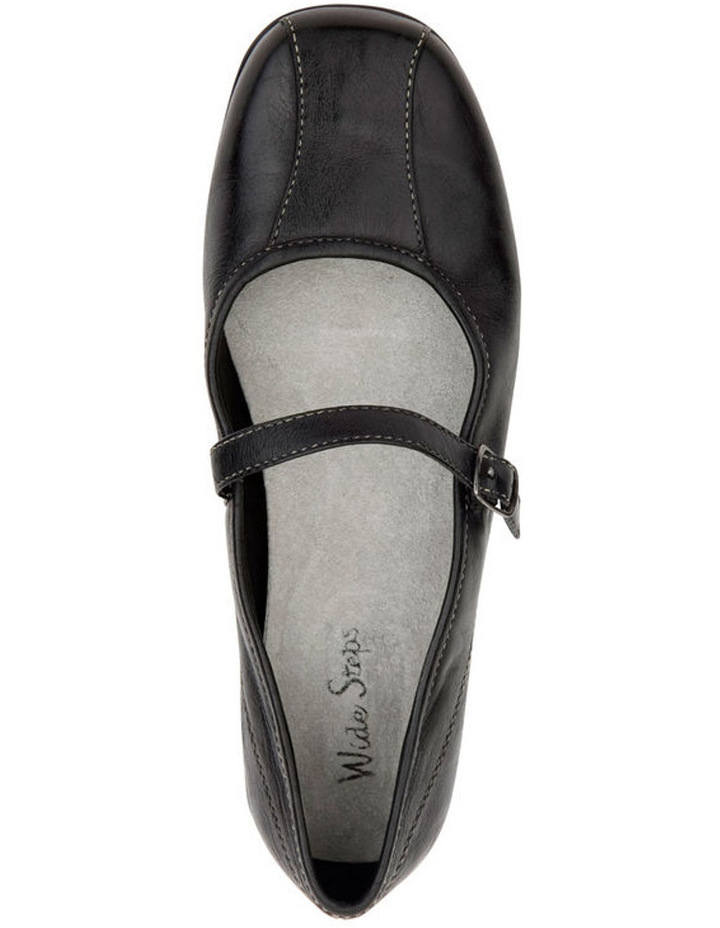 Brianna Black Flat Shoes image 2