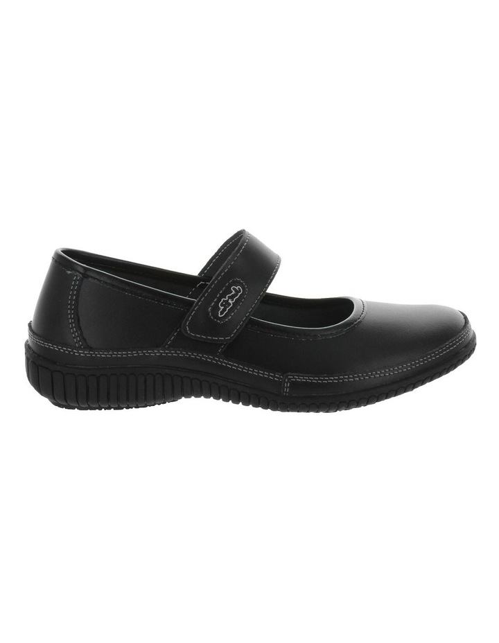 Calisa 2 Black Smooth Flat Shoes image 1