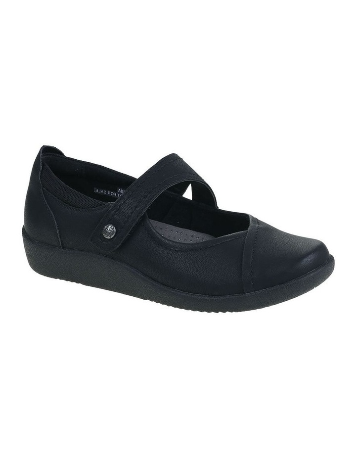 Guam Black Flat Shoe image 2