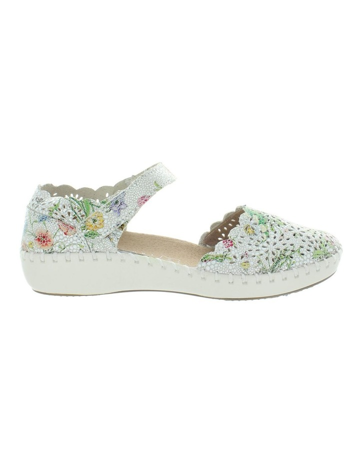 Courage White Floral Flat Shoe image 1