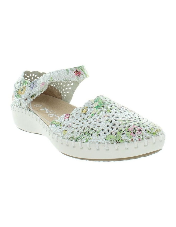 Courage White Floral Flat Shoe image 2