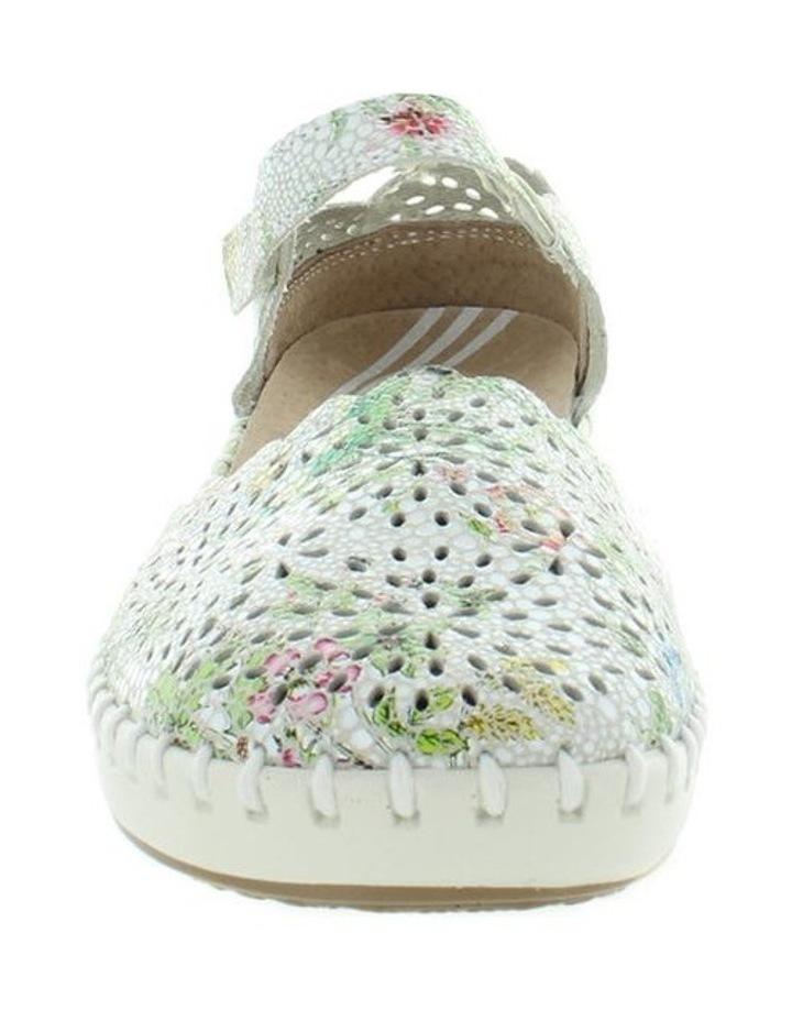 Courage White Floral Flat Shoe image 3