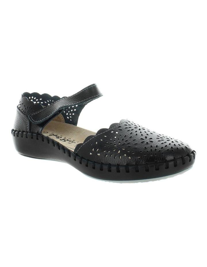 Courage Black Smooth Flat Shoe image 2