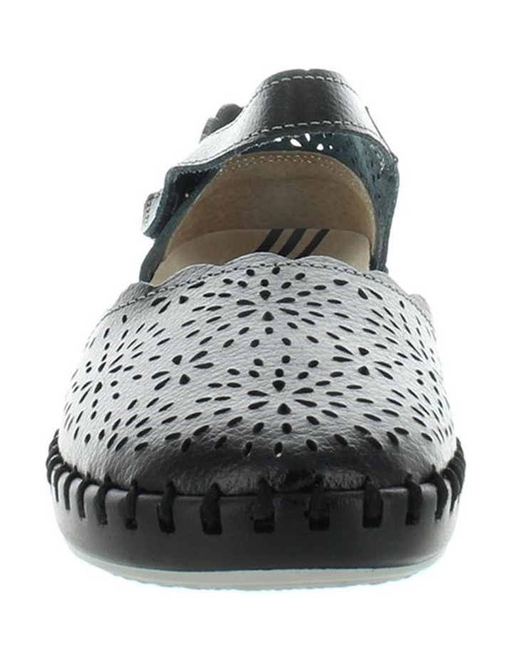 Courage Black Smooth Flat Shoe image 3