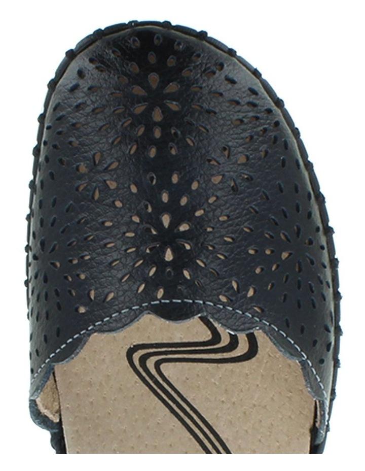 Courage Black Smooth Flat Shoe image 4
