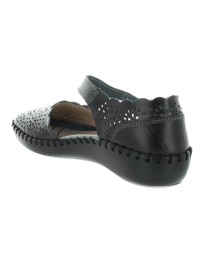 Courage Black Smooth Flat Shoe image 5