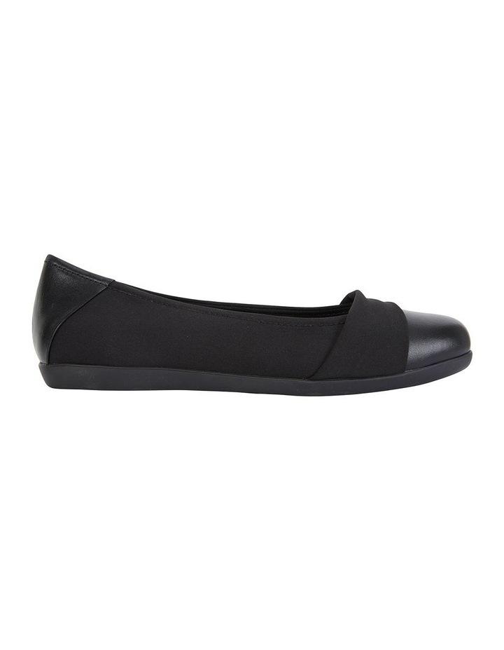 Fenton Black Glove/Fabric Flat Shoe image 1