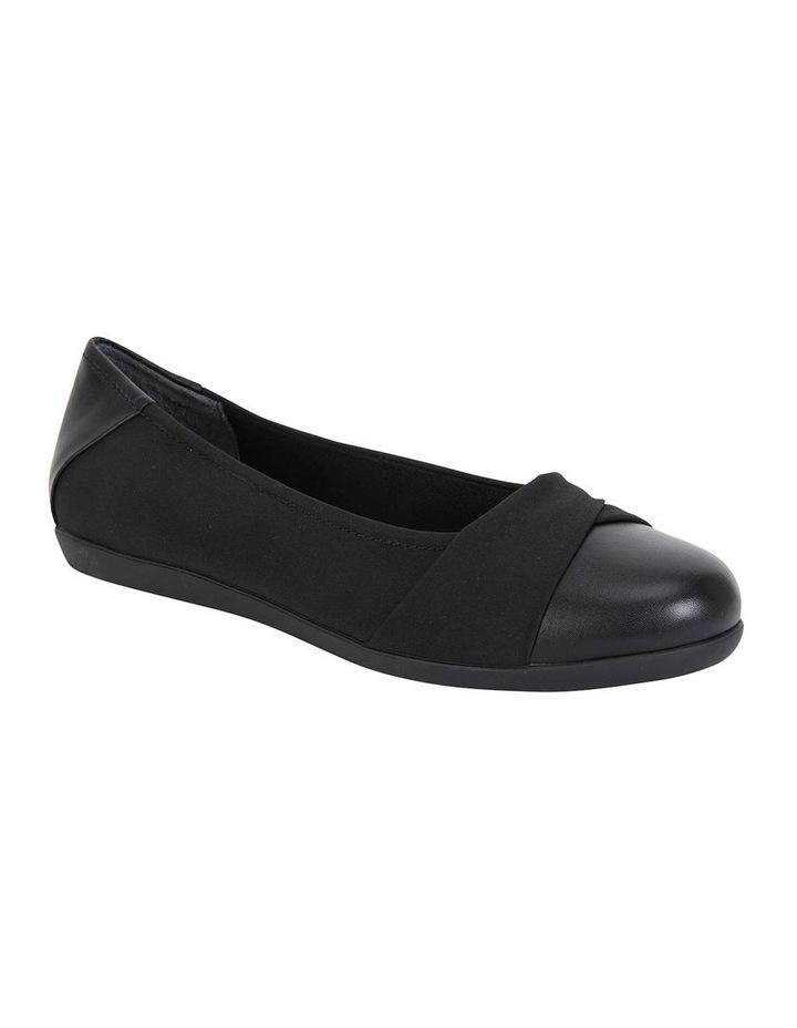 Fenton Black Glove/Fabric Flat Shoe image 2