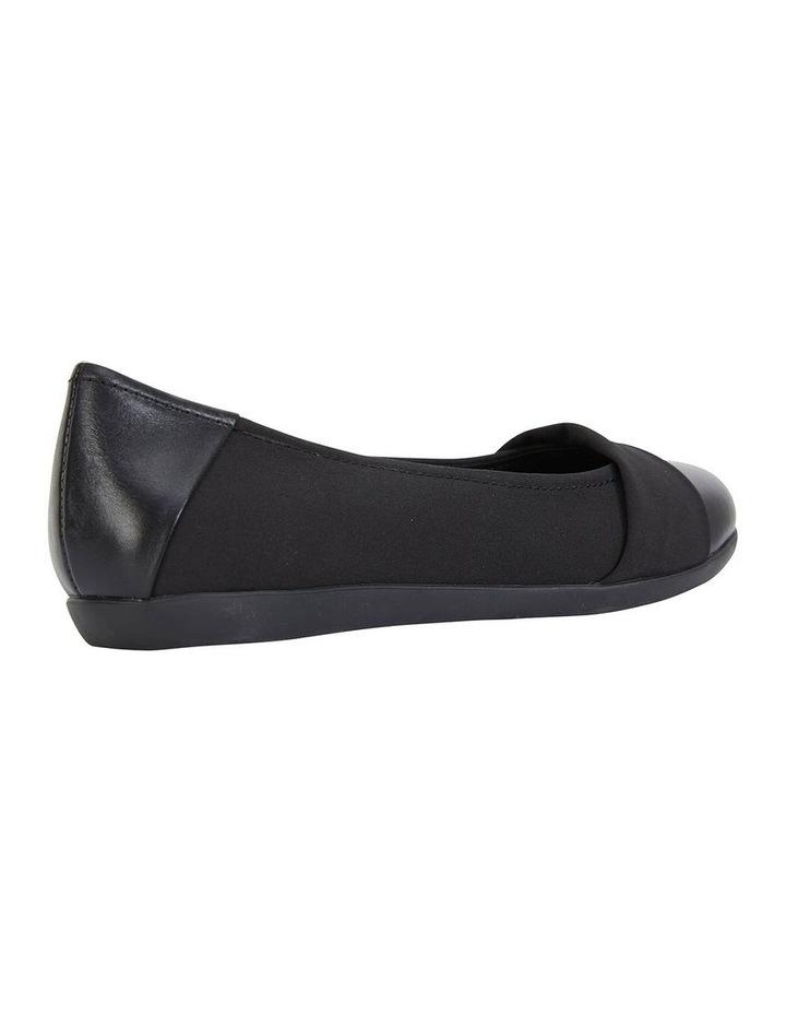 Fenton Black Glove/Fabric Flat Shoe image 3