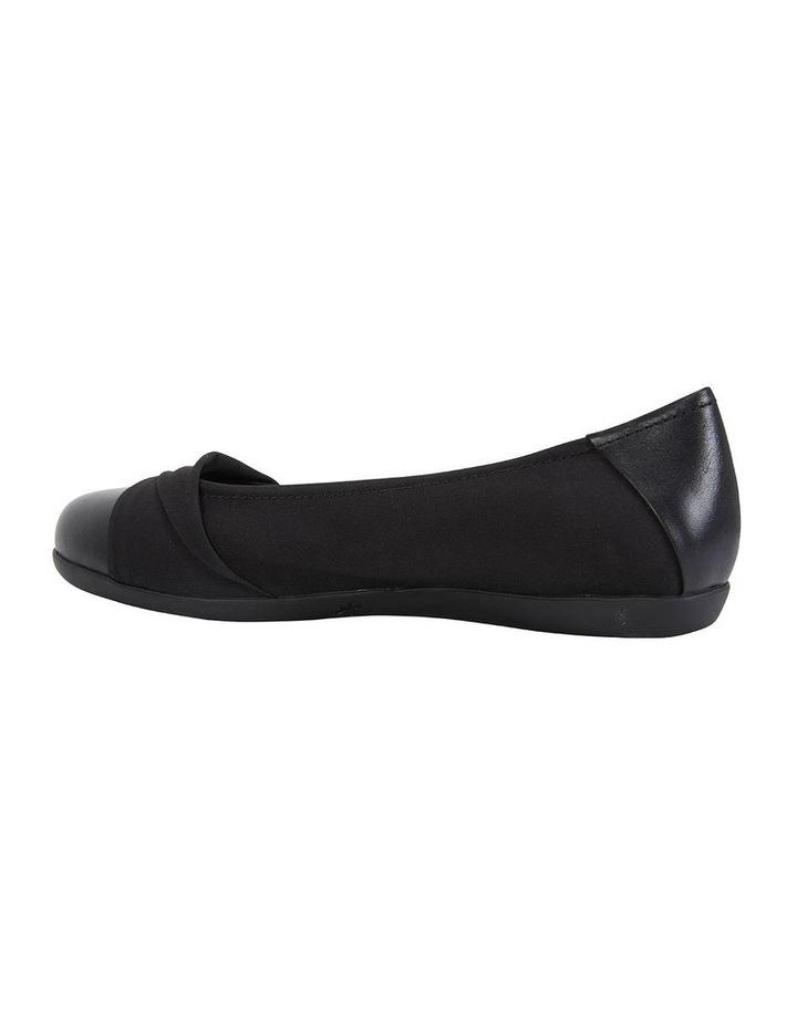 Fenton Black Glove/Fabric Flat Shoe image 5