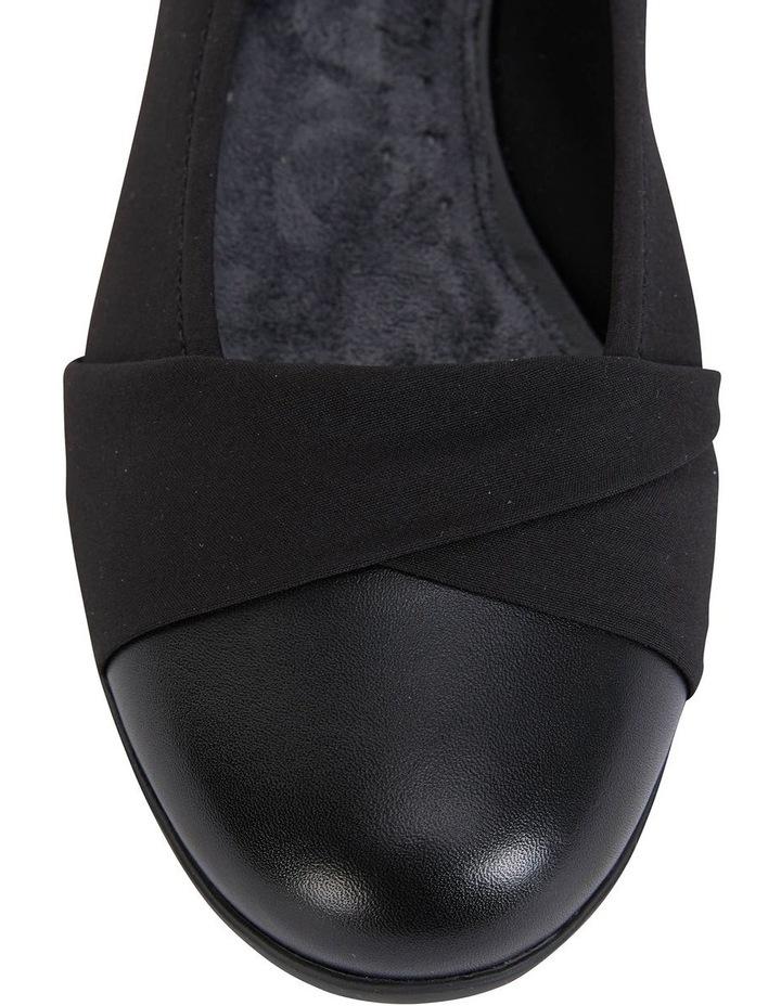 Fenton Black Glove/Fabric Flat Shoe image 6