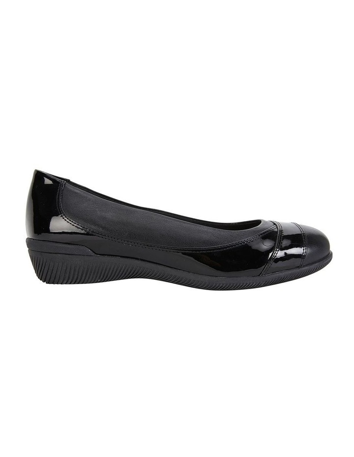 Virgo Black Patent Flat Shoe image 1