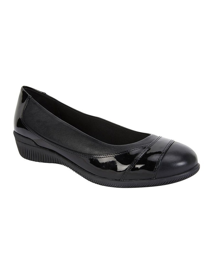 Virgo Black Patent Flat Shoe image 2