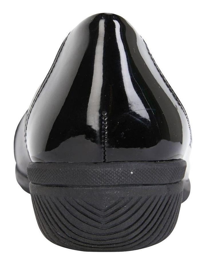 Virgo Black Patent Flat Shoe image 6