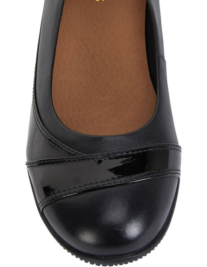 Virgo Black Patent Flat Shoe image 7