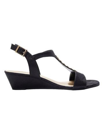 6d909331c4b Wide Steps Nolan Black Fabric Sandal
