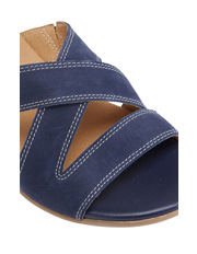 Wide Steps - Caddy Navy Nubuck Sandal