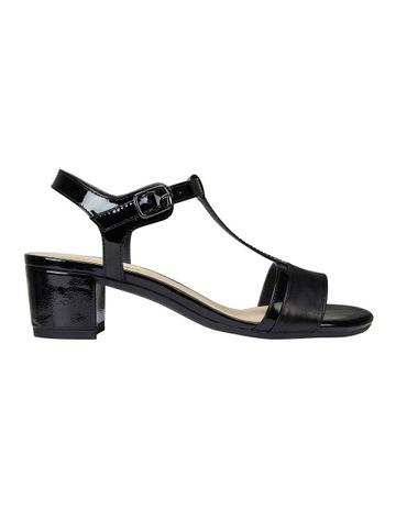 cd131ba02c308 Wide Steps Ella Black Glove Patent Sandal