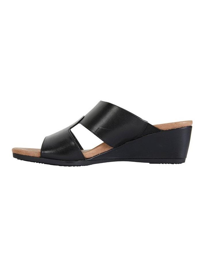 Details about Wide Steps Melanie Black Glove Sandal
