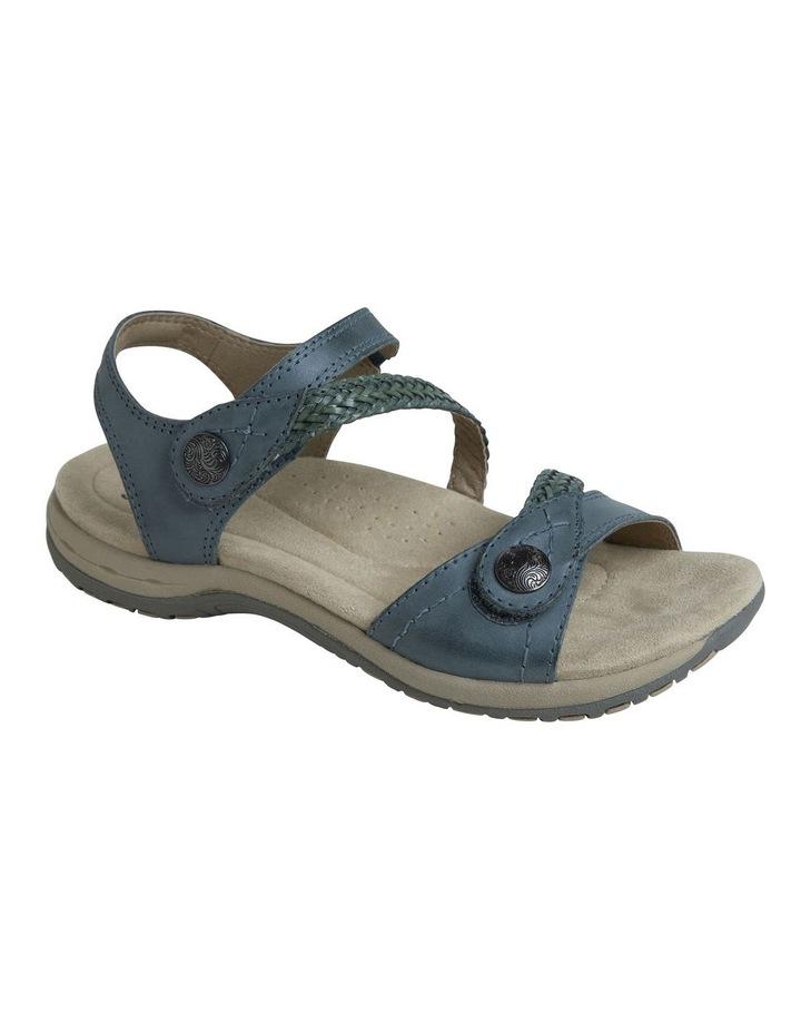 Crop Blue Leather Sandal image 2