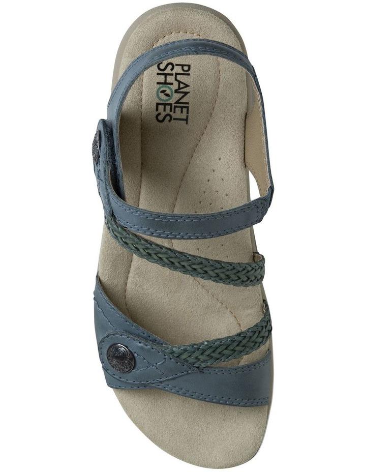 Crop Blue Leather Sandal image 3