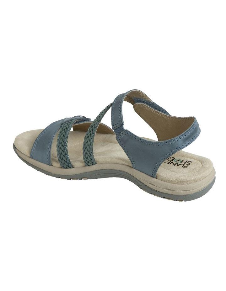 Crop Blue Leather Sandal image 5