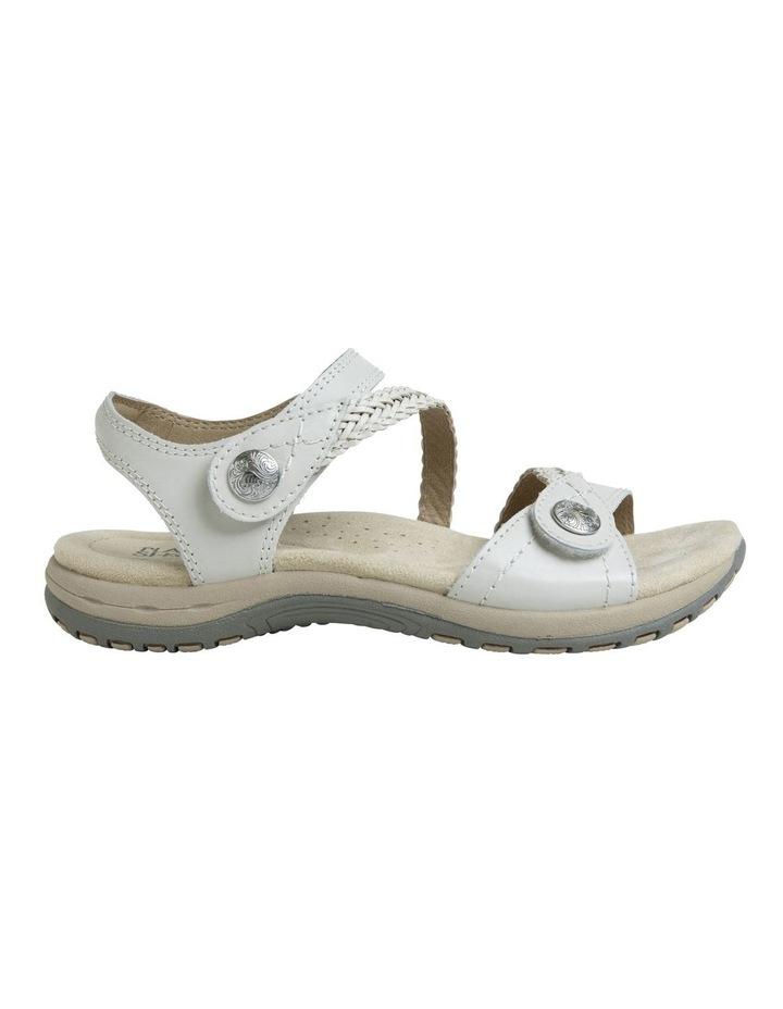 Crop White Leather Sandal image 1