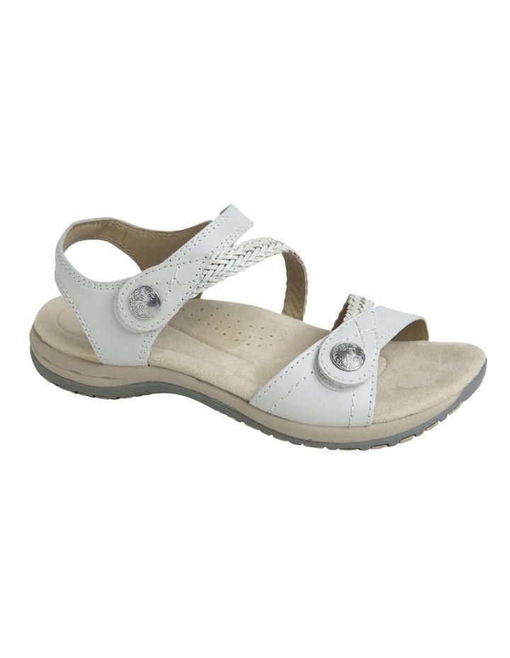 Crop White Leather Sandal image 2