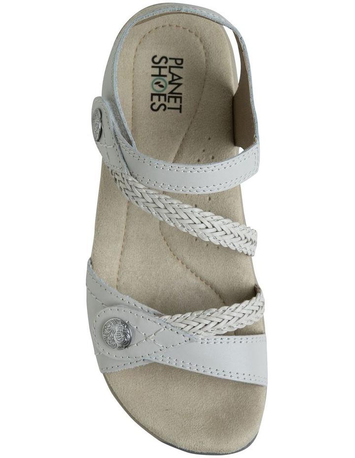 Crop White Leather Sandal image 3