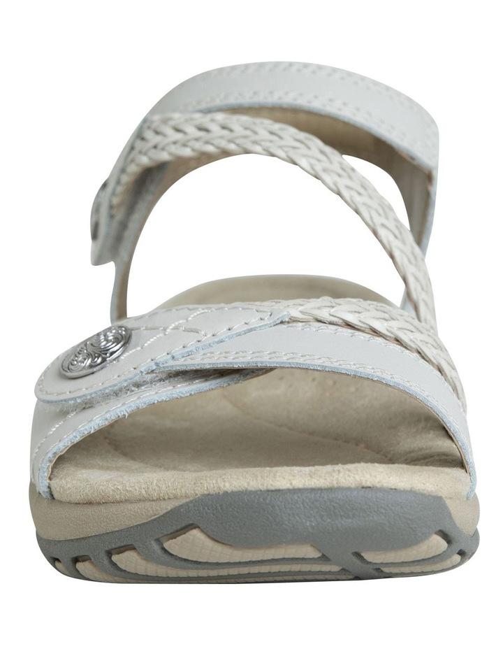 Crop White Leather Sandal image 4