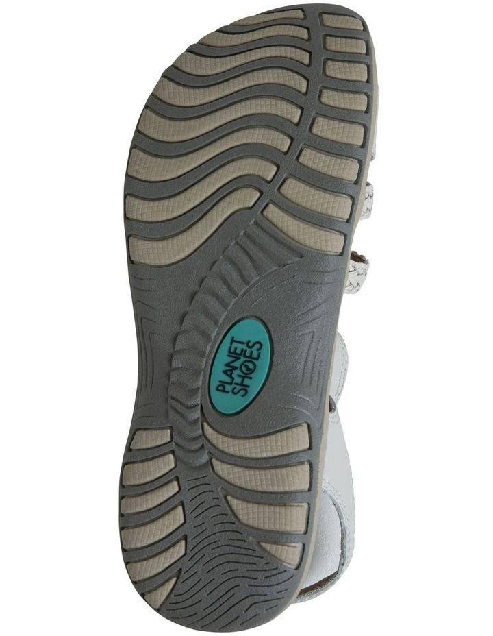 Crop White Leather Sandal image 6