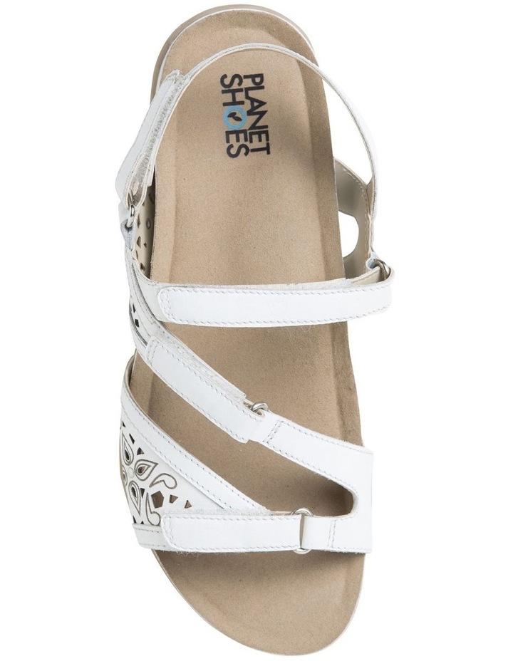 Malu Sand White Leather Sandal image 3