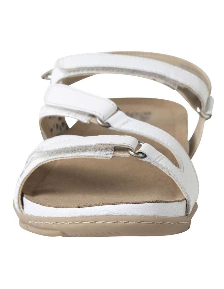 Malu Sand White Leather Sandal image 4