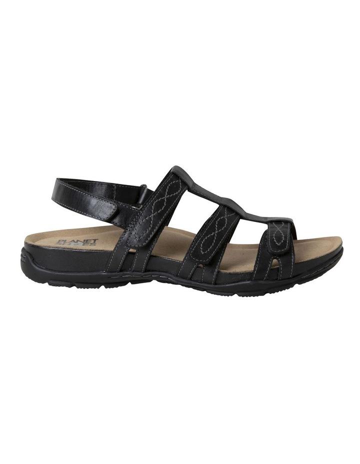 Mayar Black Leather Sandal image 1