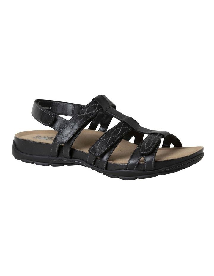 Mayar Black Leather Sandal image 2
