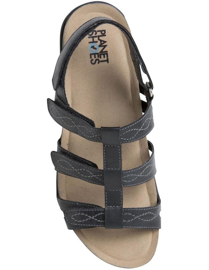 Mayar Black Leather Sandal image 3