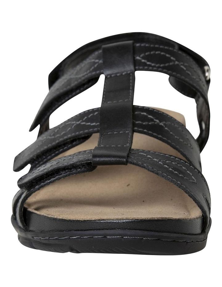 Mayar Black Leather Sandal image 4