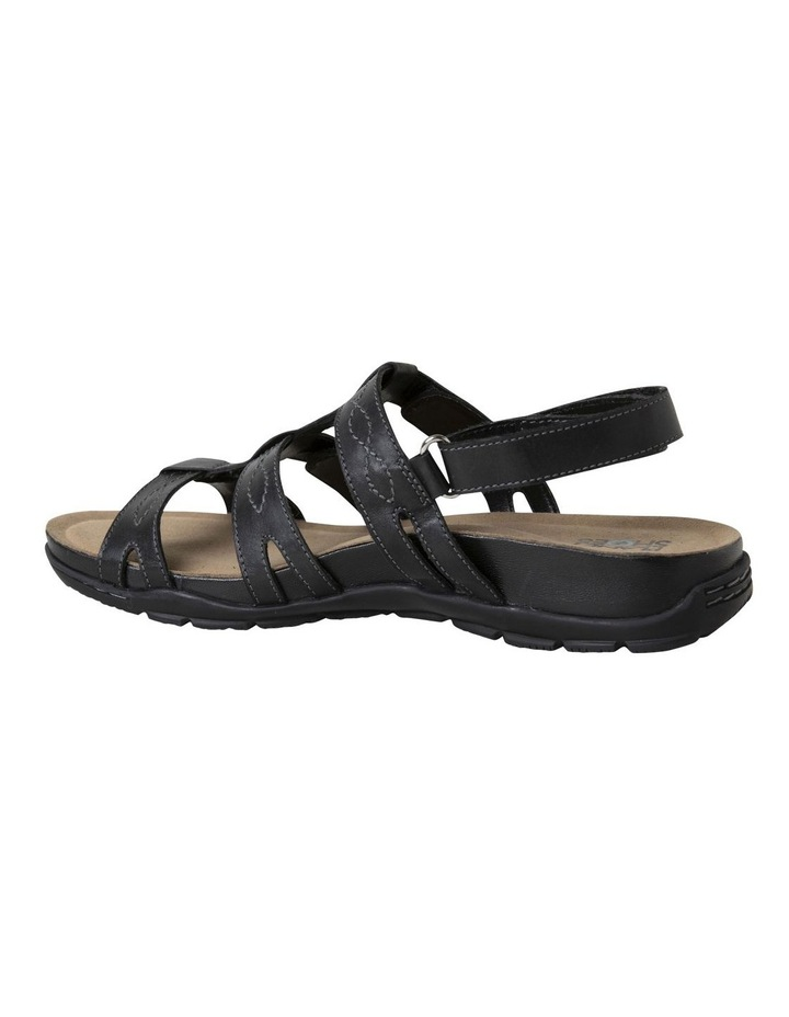 Mayar Black Leather Sandal image 5