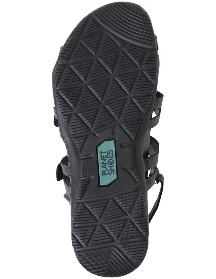 Mayar Black Leather Sandal image 6