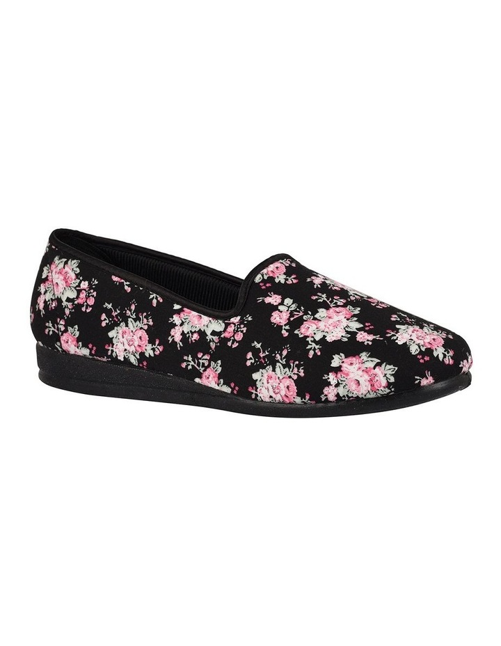 Dee 2 Black Floral Slipper image 1