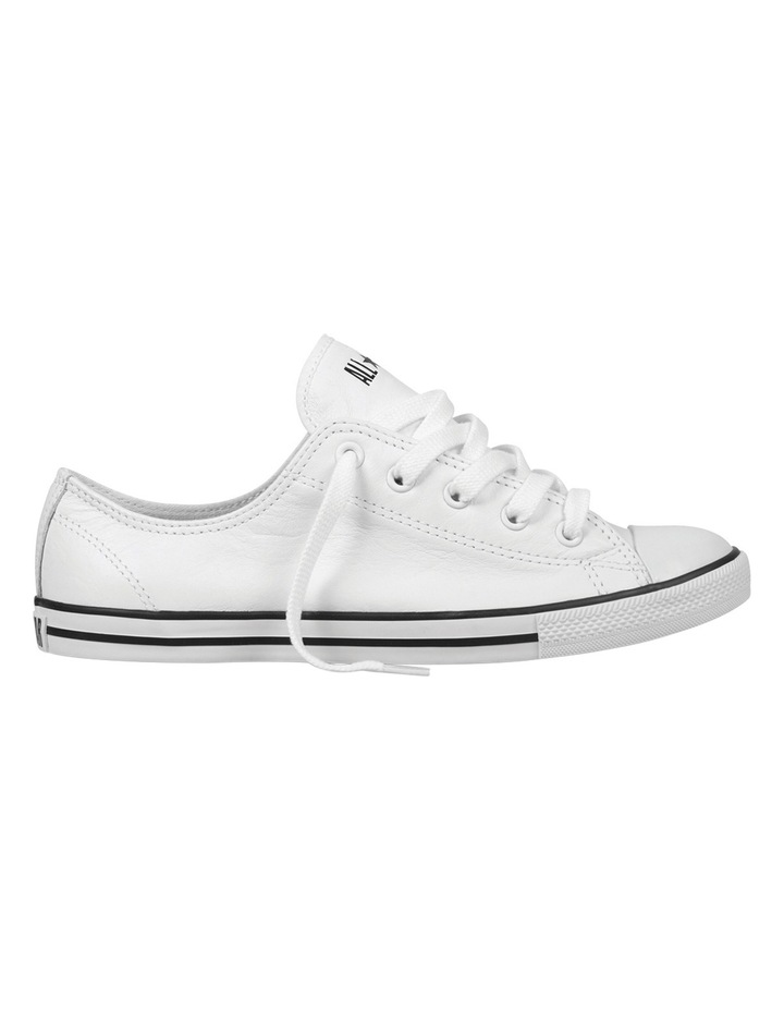 Converse Dainty Ox Low Top White Leather Sneakers 2019