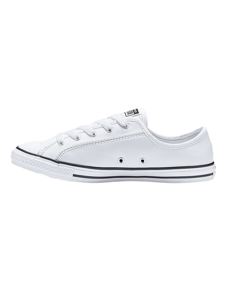 Chuck Taylor All Star White Leather Dainty Womens image 2