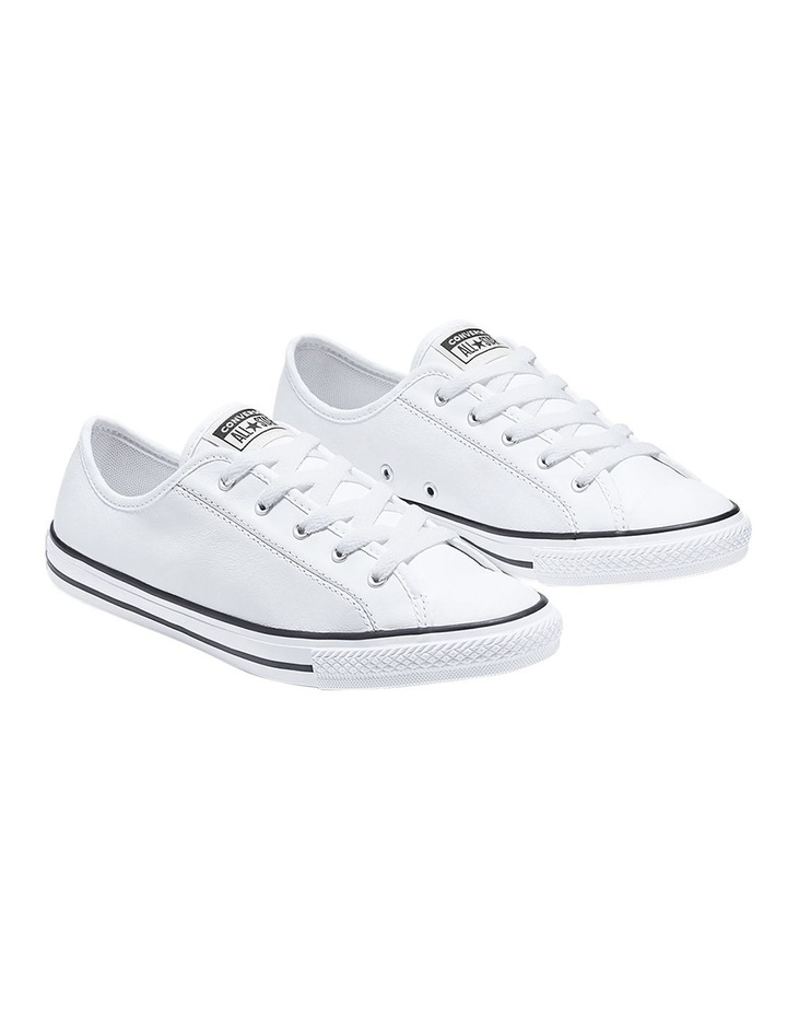 Chuck Taylor All Star White Leather Dainty Womens image 3