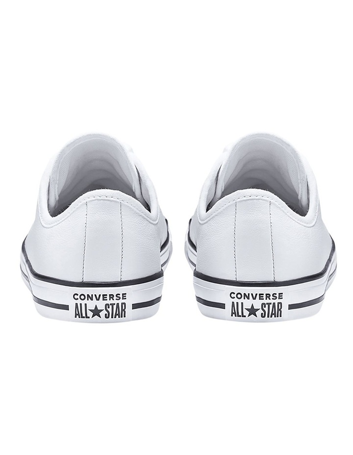 Chuck Taylor All Star White Leather Dainty Womens image 4