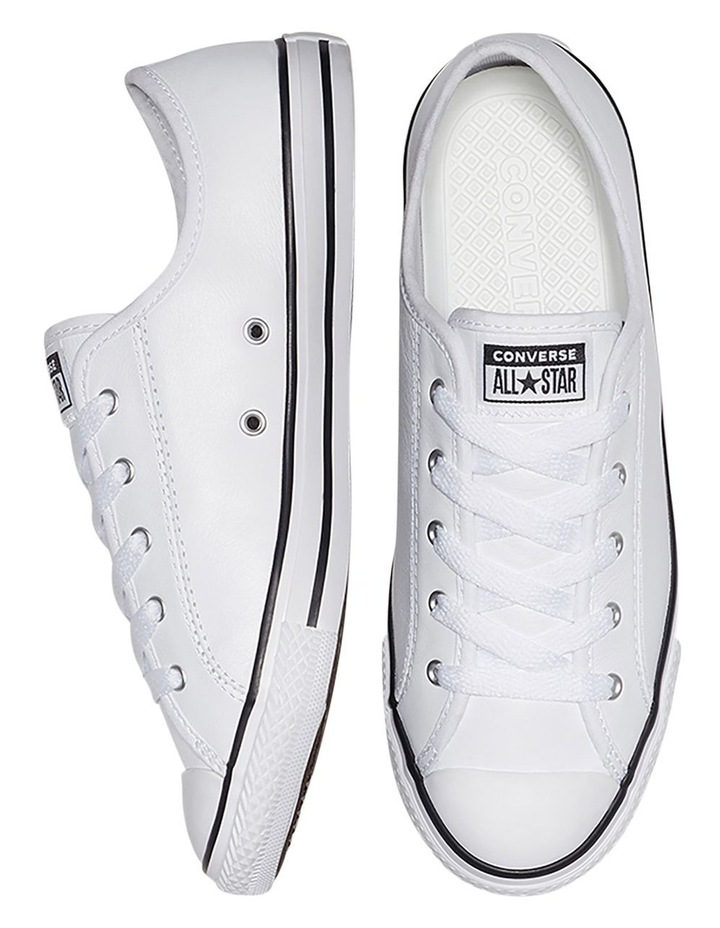Chuck Taylor All Star White Leather Dainty Womens image 6
