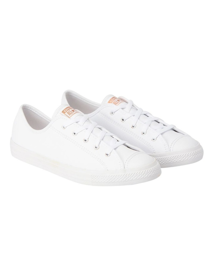 Chuck Taylor All Star Dainty Speckled 568158 White/White/Blush Gold Sneaker image 3