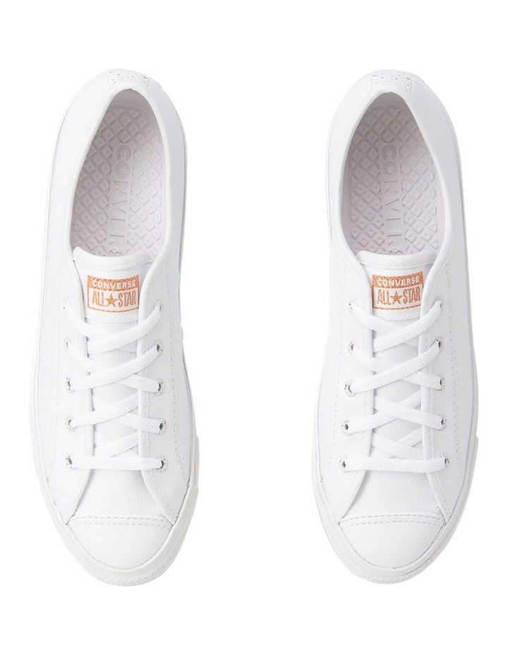 Chuck Taylor All Star Dainty Speckled 568158 White/White/Blush Gold Sneaker image 5